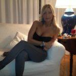 femme mature cougar en leggings