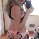 lingerie bizarre et culotte ouverte