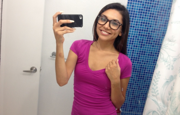 selfie fille métisse sexy en photo
